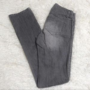 CAbi gray jeans pants bottoms straight leg Sz 2